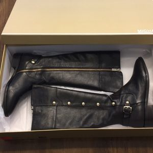 Michael Kors Tall Riding Leather Boots